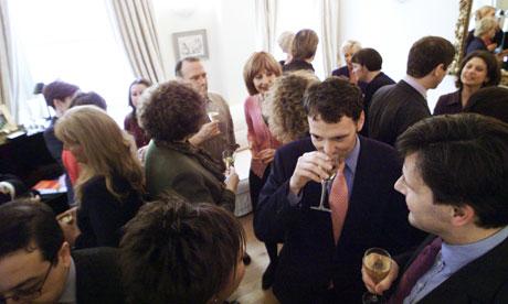 man drinking wine networking